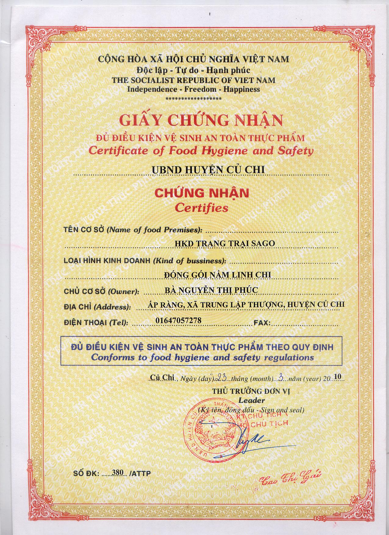 Cần những loại giấy phép nào để được sản xuất kinh doanh Dấm ăn